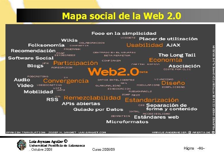 Mapa social de la Web 2. 0 Luis Joyanes Aguilar © Universidad Pontificia de