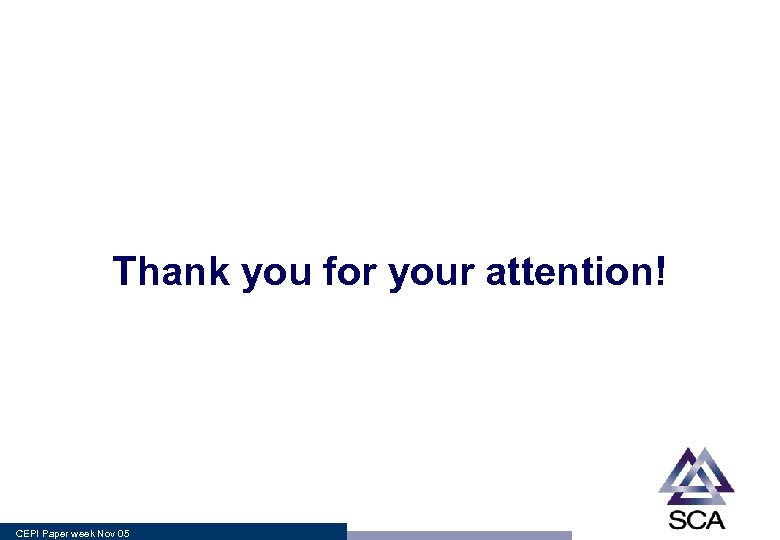 Thank you for your attention! CEPI Paper week Nov 05