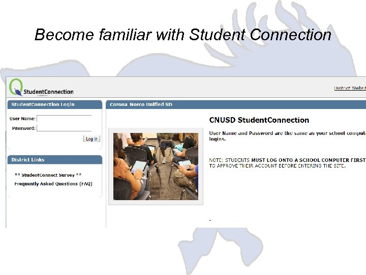 Become familiar with Student Connection