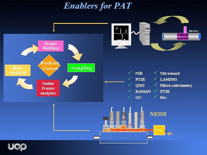 Enablers for PAT T Sensor Reactor Time Model Building Data Analysis Feedback Control Sampling