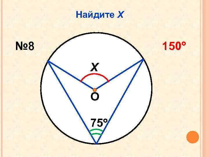 Найдите Х № 8 150 Х О 75