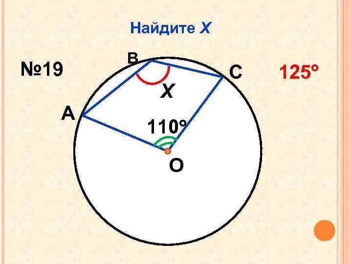 Найдите Х № 19 В Х А 110 О С 125