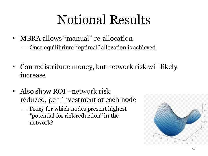 "Notional Results • MBRA allows ""manual"" re-allocation – Once equilibrium ""optimal"" allocation is achieved"