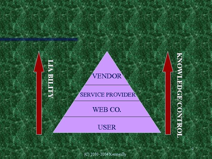 WEB CO. USER (C) 2000 -2004 Kenneally KNOWLEDGE/CONTROL SERVICE PROVIDER L IA B IL