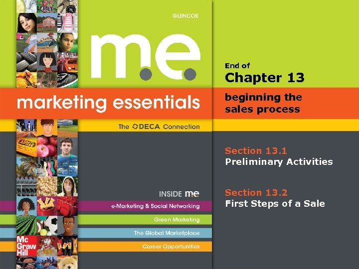 End of Chapter 13 beginning the sales process Section 13. 1 Preliminary Activities Section