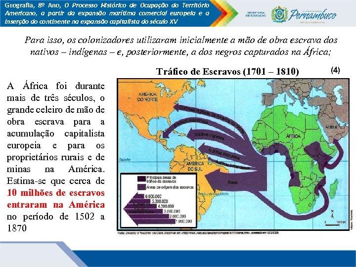 Geografia, 8º Ano, O Processo Histórico de Ocupação do Território Americano, a partir da