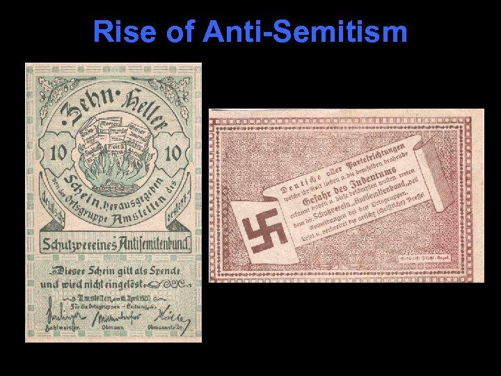 Rise of Anti-Semitism