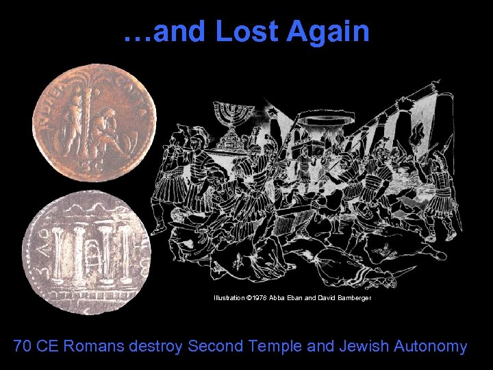 …and Lost Again Illustration © 1978 Abba Eban and David Bamberger 70 CE Romans