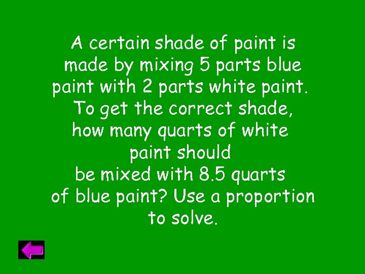 A certain shade of paint is made by mixing 5 parts blue paint with
