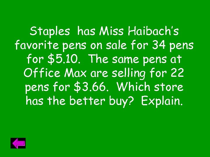 Staples has Miss Haibach's favorite pens on sale for 34 pens for $5. 10.
