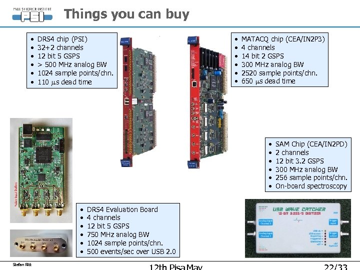 Things you can buy • • • DRS 4 chip (PSI) 32+2 channels 12