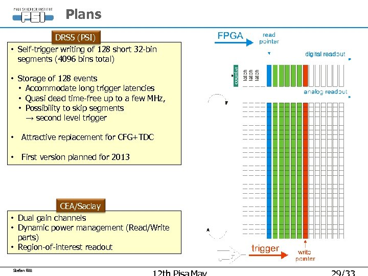 Plans DRS 5 (PSI) • Self-trigger writing of 128 short 32 -bin segments (4096