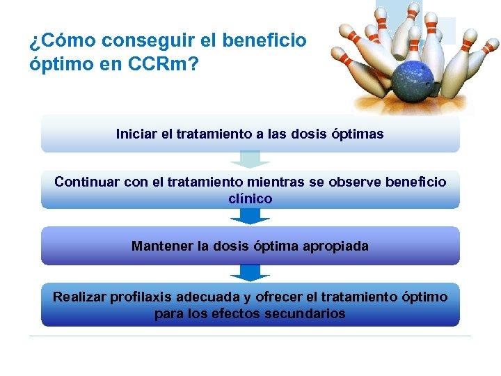 ¿Cómo conseguir el beneficio óptimo en CCRm? Iniciar el tratamiento a las dosis óptimas