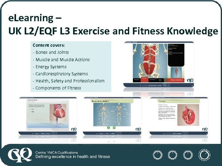 e. Learning – UK L 2/EQF L 3 Exercise and Fitness Knowledge Content covers: