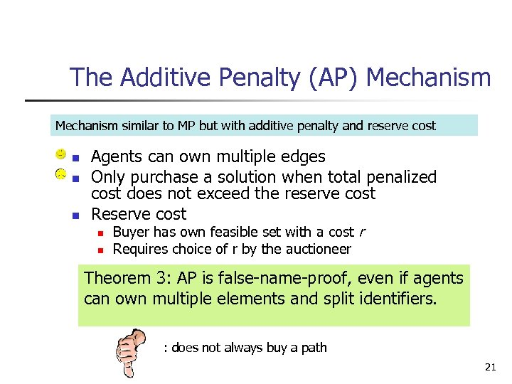The Additive Penalty (AP) Mechanism similar to MP but with additive penalty and reserve