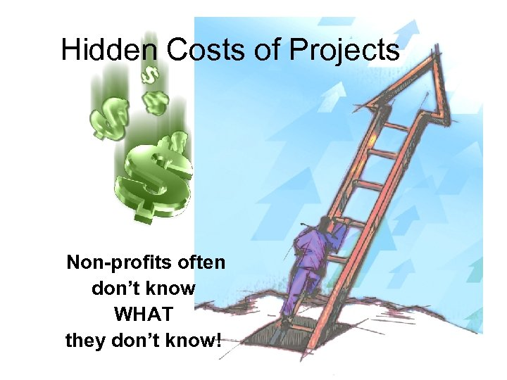 Hidden Costs of Projects Non-profits often don't know WHAT they don't know!