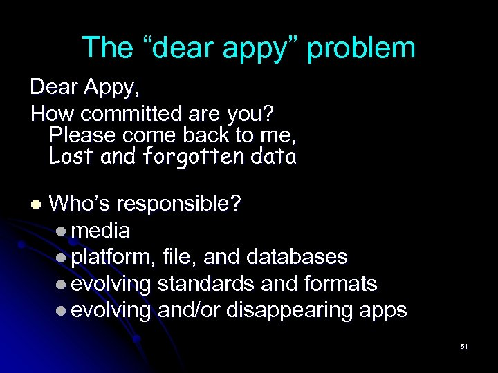 """The """"dear appy"""" problem Dear Appy, How committed are you? Please come back to"""