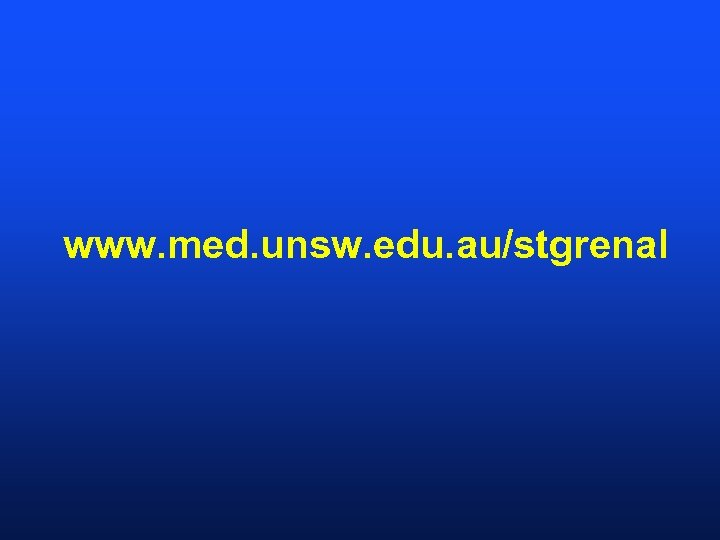 www. med. unsw. edu. au/stgrenal