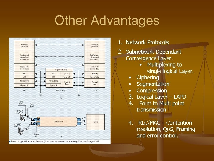 Other Advantages 1. Network Protocols 2. Subnetwork Dependant Convergence Layer. • Multiplexing to single