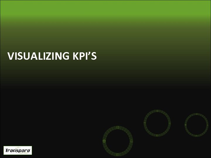 VISUALIZING KPI'S