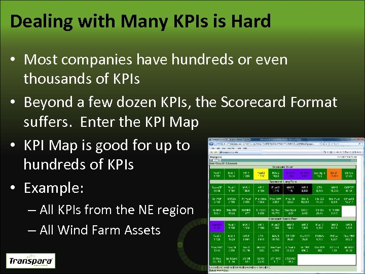 Dealing with Many KPIs is Hard • Most companies have hundreds or even thousands