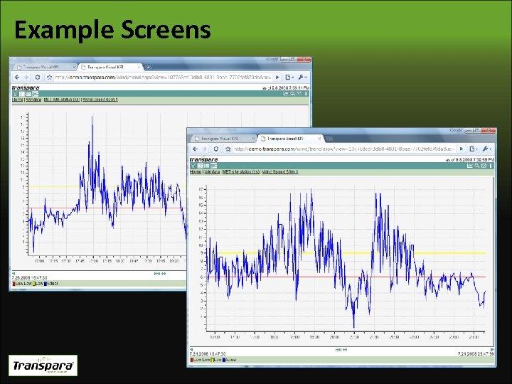 Example Screens