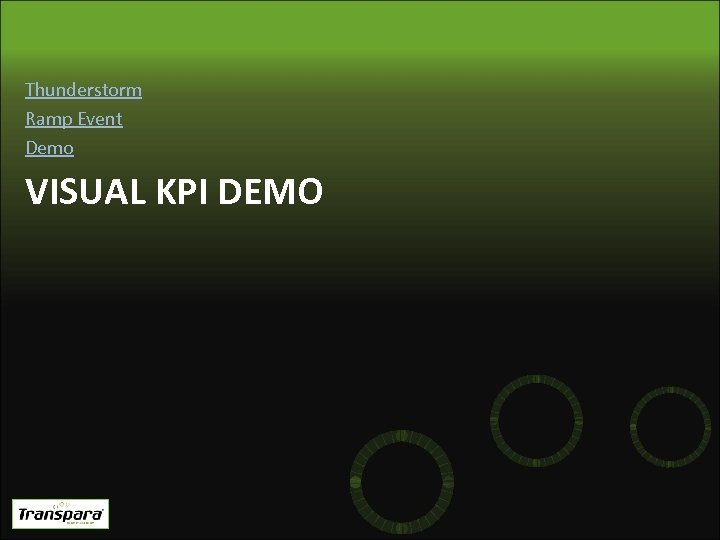Thunderstorm Ramp Event Demo VISUAL KPI DEMO
