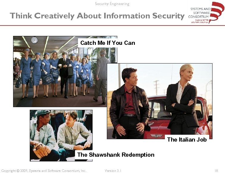 Security Engineering Think Creatively About Information Security Catch Me If You Can The Italian