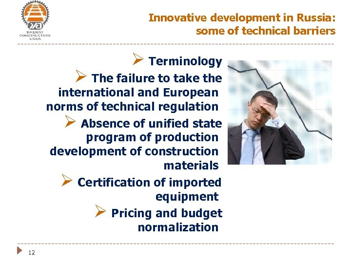 Innovative development in Russia: some of technical barriers Ø Terminology Ø The failure to