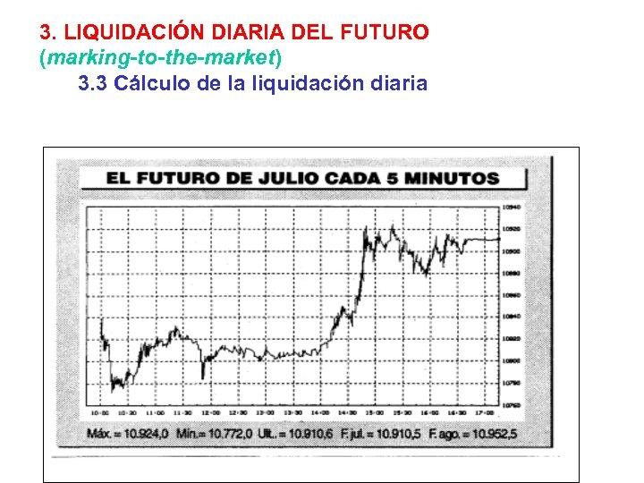 3. LIQUIDACIÓN DIARIA DEL FUTURO (marking-to-the-market) 3. 3 Cálculo de la liquidación diaria
