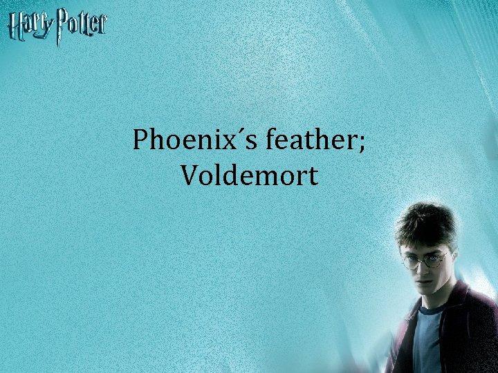 Phoenix´s feather; Voldemort