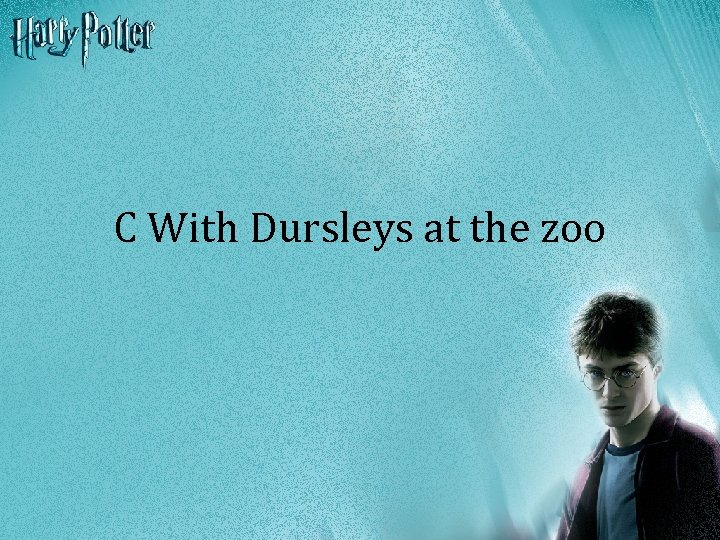 C With Dursleys at the zoo