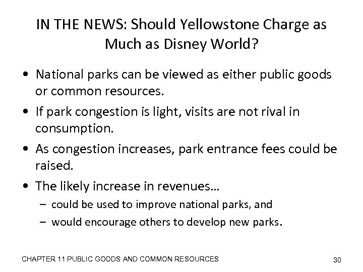 IN THE NEWS: Should Yellowstone Charge as Much as Disney World? • National parks
