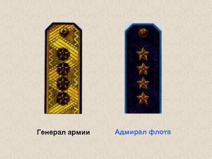 Генерал армии Адмирал флота