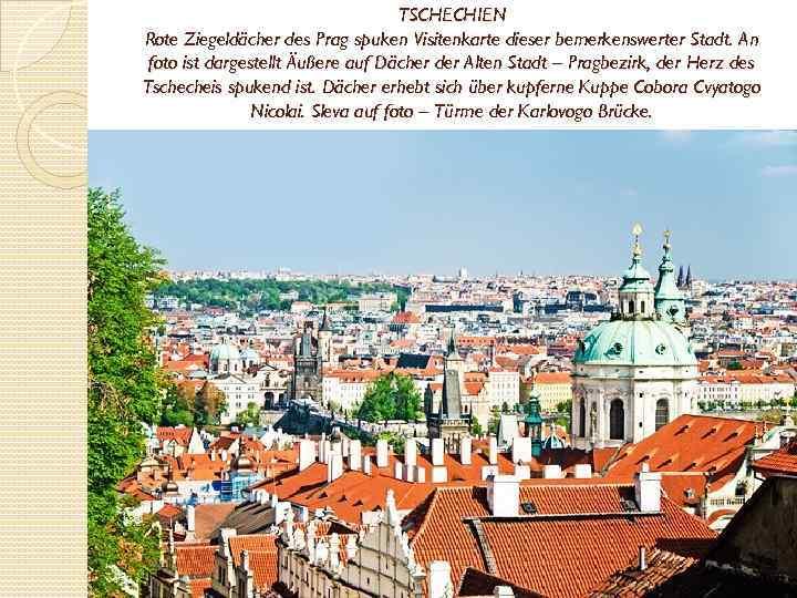 TSCHECHIEN Rote Ziegeldächer des Prag spuken Visitenkarte dieser bemerkenswerter Stadt. An foto ist dargestellt