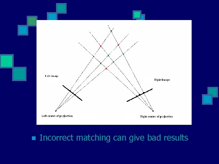n Incorrect matching can give bad results