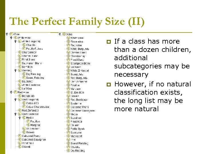 The Perfect Family Size (II) p p If a class has more than a