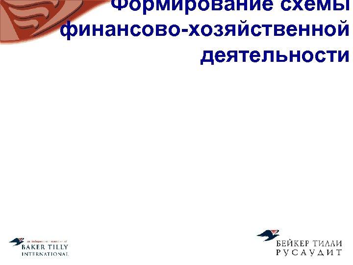 Формирование схемы финансово-хозяйственной деятельности