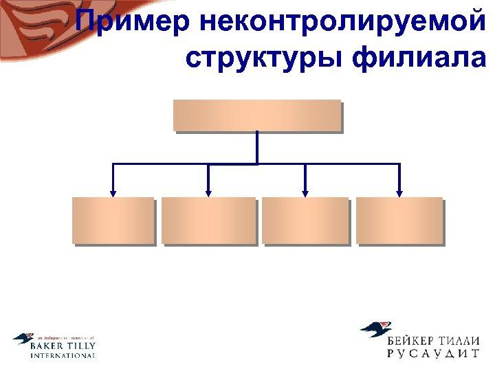 Пример неконтролируемой структуры филиала