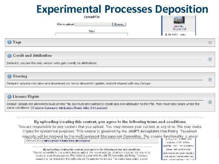 Experimental Processes Deposition