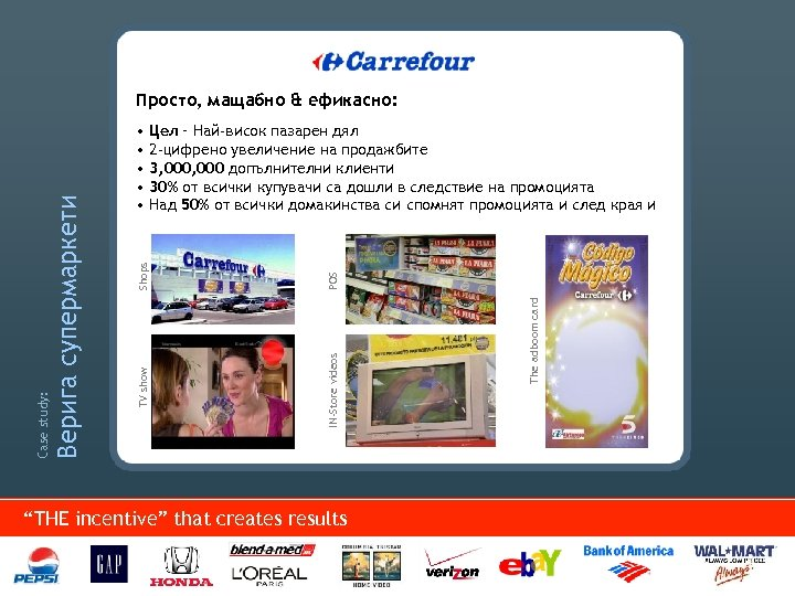 """POS IN-Store videos """"THE incentive"""" that creates results The adboom card Shops • Цел"""