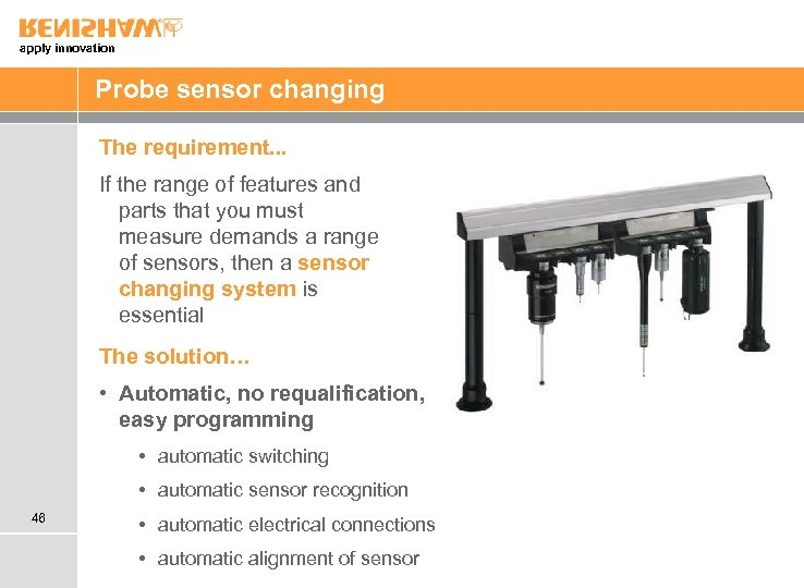apply innovation Probe sensor changing The requirement. . . If the range of features