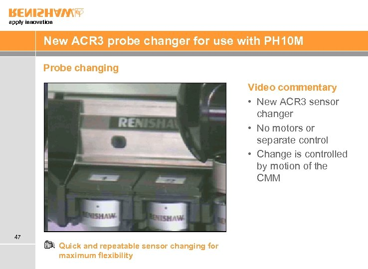 apply innovation New ACR 3 probe changer for use with PH 10 M Probe