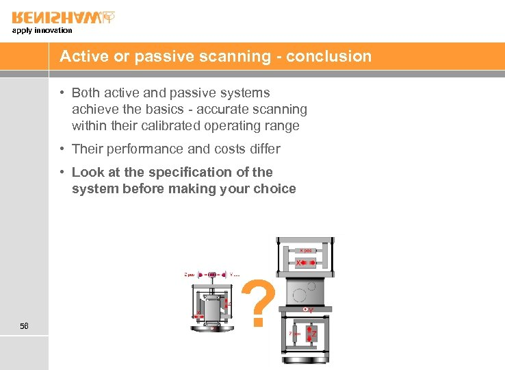 apply innovation Active or passive scanning - conclusion • Both active and passive systems