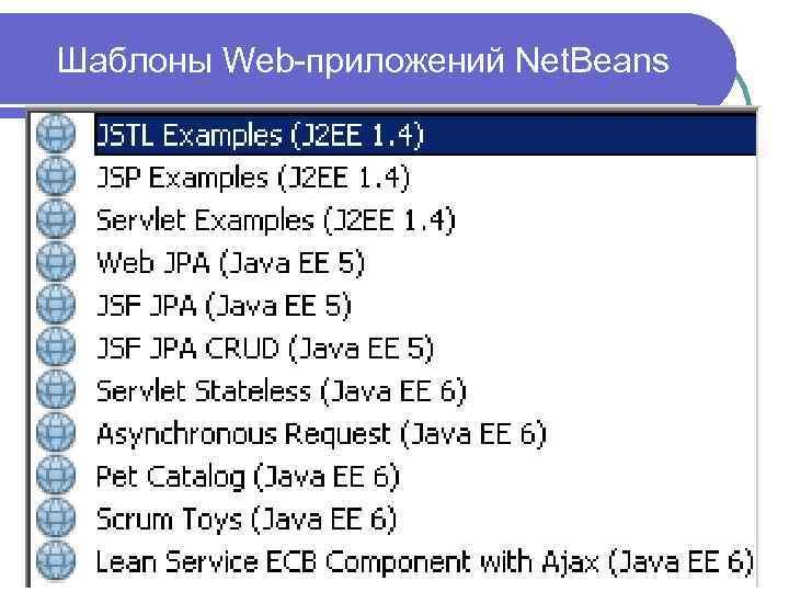 Шаблоны Web-приложений Net. Beans