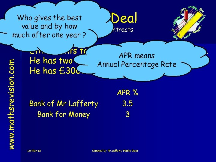 Best Deal Who gives the best value and by how Rates & Contracts much