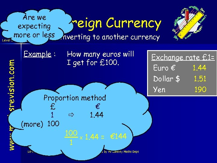 Are we expecting more or less. Converting to another currency Level 3 Foreign Currency