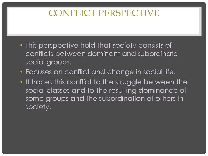 perspectives on conflicts and disputes essay Free conflict papers, essays, and research papers conflict management in the pygmy culture - the way people behave within conflict is a strong indicator of whether peaceful resolution is a possible outcome of conflict management (eunson, 2007.