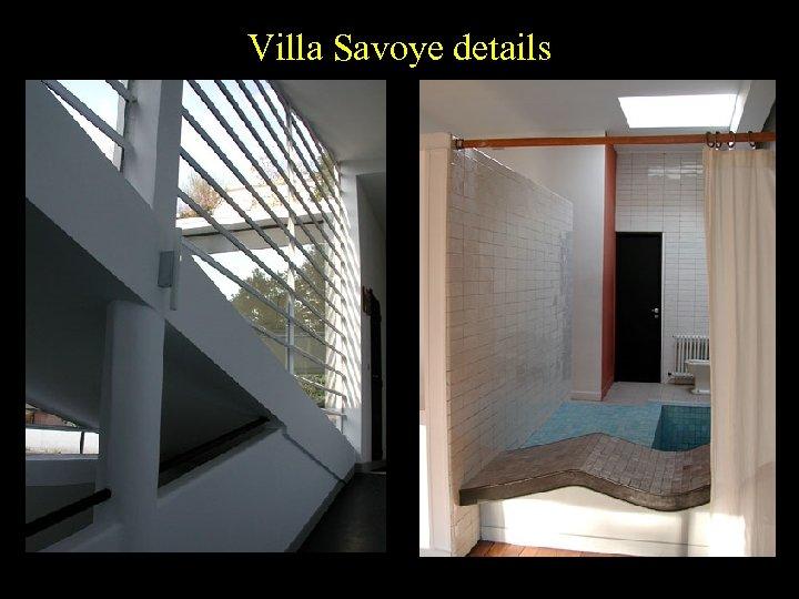Villa Savoye details