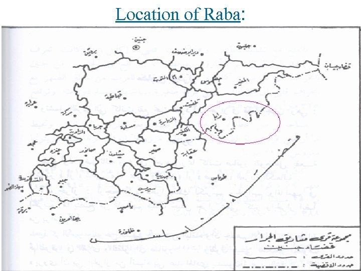 Location of Raba: Qaryut